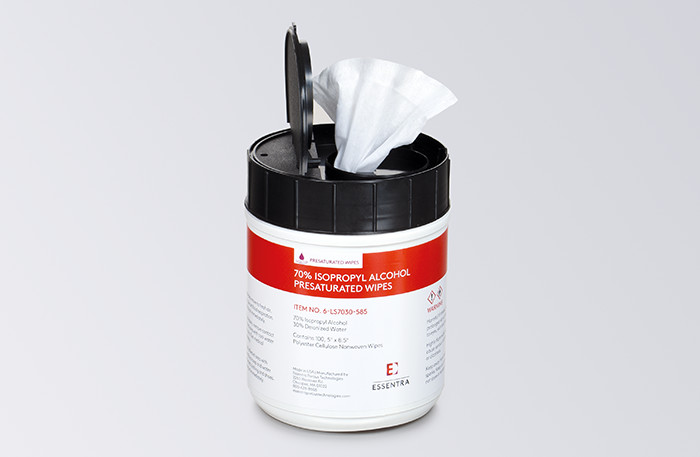 presaturated wipes example