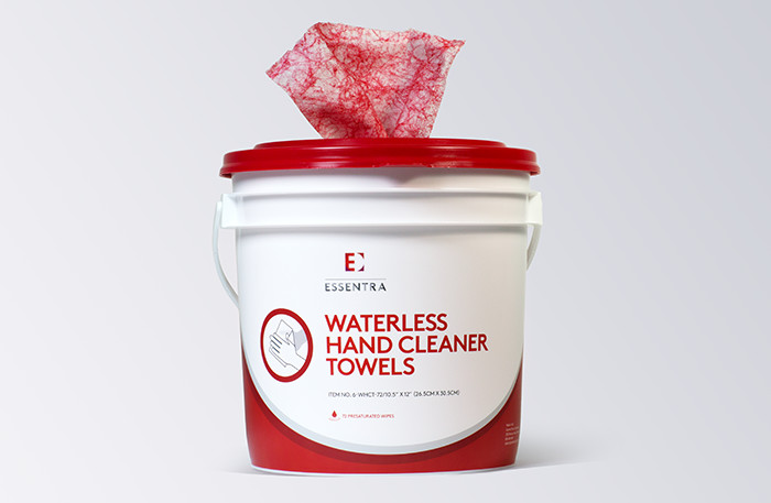 Waterless Wipes Example