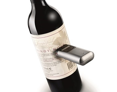 Wine bottle being scanned