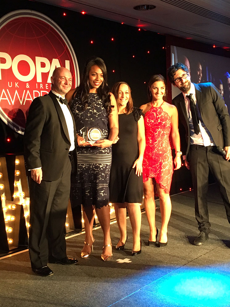 Rupert Taylor, Global Category Manager at Essentra with winners of Cosmetics, Beauty Hair & Fragrance